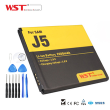 WST Hot Sale 2600mAh Battery 3.8V Li-ion Battery Use with 11pcs tool kit for Samsung Galaxy J5 J5000 J5008 J5009 J500H J500F(China)