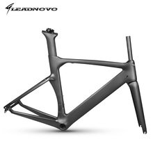 2017 EPS carbon road bike frame carbon fibre integrated aero road cycling race bicycle frameset with stem taiwan bike LEADNOVO