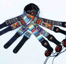 acoustic guitar belt , electric guitar straps,cotton material with leather head