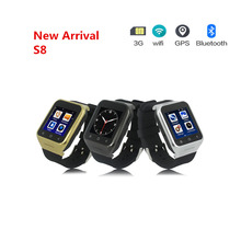 Wrist 3G WCDMA watch Android Smart watch S8 support TD Screen 5M HD Camera TF 32G speaker SIM MAP GPS receive call music 3G