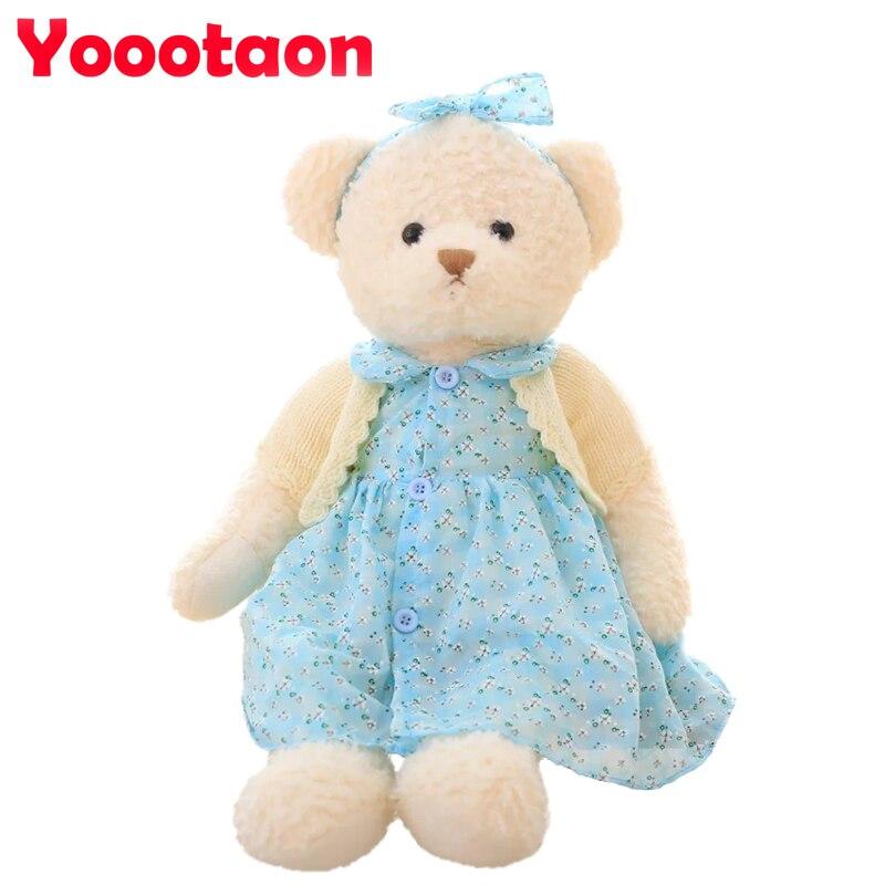 Big size Kawaii Teddy bear wear a skirt Plush toys 65cm High quality kids stuffed dolls for girls birthday gifts <br><br>Aliexpress