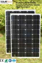 Solarparts 2x 100W Monocrystalline Solar Module by mono solar cell factory cheap selling 12V solar panel for RV/Marine/Boat use
