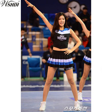 New Fashion Glee Style Cheerleading Costume Sexy Girl Baseball aerobics dance Cheer Girls Cheerleader Uniform Tops with Skirt