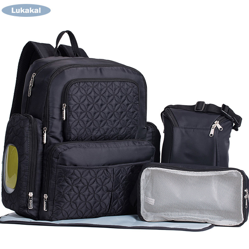 5pcs Set Baby Diaper Bag New Large Capacity Stroller Pram Organizer Nursing Bag Mummy Maternity Nappy Bag Backpack Travel Bag<br>