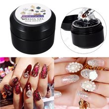 15ml UV Gel Polish Rhinestone Glue Nail Acrylic Adhesives Super Sticky Foil Gel Pro Clear Lacquer Bling Ongle Decoration Tool(China)