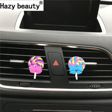 Hazy beauty Lovely soft bow lollipop car perfume Car Air Freshener Perfumes 100 Originais  Parfum De Voiture Car Ornament