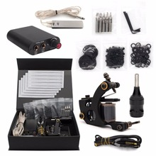 Professional Tattoo Kits Tattoo Gun Power Supplier Needles Body Art Tattoo Machine Set temporary permanent for Beginner