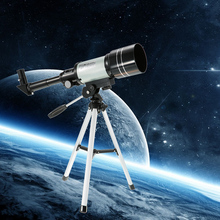 F30070M Monocular Outdoor Telescope HD 150X Refractive Astronomical Telescope H6mm/H20mm Eyepiece with Tripod Barlow Lens