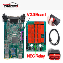CDP TCS V3.0 Green board TCS CDP Pro Plus Bluetooth 2015.3 with keygen for CAR/TRUCK obd2 Diagnostic-Tool Better than ELM327(China)