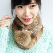 Real rabbit fur scarf wrap cape shawl neck warmer 7colors Christmas gift on-sale 050106(China)