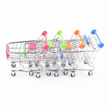 Body Great Gifts Mini Supermarket Handcart Shopping Utility Cart Mode Storage Cute Baby Toys Color Random Wholesale