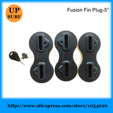 Surf Plug 5 Degree Black Fusion Fins Plug FCS Plugs Surfboard Fin Box