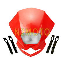 Red Motorcycles Headlight Streetfighter for Honda Enduro CRF XR CR XL CRM FMX 250 450 Motocross(China)