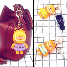 Super Cute Bling Crystal Garfield Princess Key Chain Pendant For Bag Handbag Car Key Purse Charms Ornament Novelty Product
