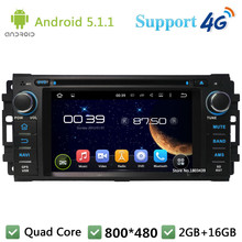 Quad Core Android 5.1.1 Car DVD Player Radio DAB+ 3G/4G WIFI GPS Map For Jeep Cherokee Compass Commander Wrangler Chrysler 300C