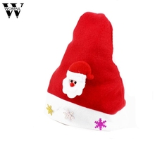 OC 7 Fairy Store 2016 Hot Selling Christmas Elk Red Hat Cozy Soft Warm Children Santa Headgear(China)