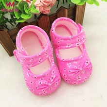 Cute Baby Shoes Newborn First Walkers 2018 Spring Sneakers Toddler Infant Shoes for Kids Non-slip Prewalker Footwear Crib Shoes(China)