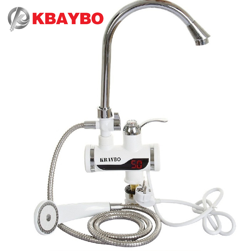 3000W Electric Instant Water Heater Tap Shower Hot Faucet Kitchen Water Heater<br>