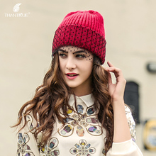 Lady New Winter Knitted Veil Hat Korean Woolen Hat Knitted Cap Female Fashion Warm Sweet Sleeve Cap B-4315(China)