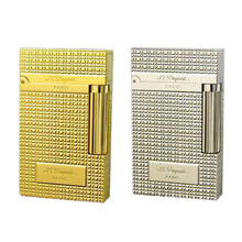 2017 S.T Dupont Metal Lighter Windproof Cigarette Gas Lighter Cigar Smoking Lighter High quality Gold Sliver