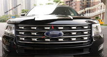 ABS ! For Ford Explorer 2016 2017 Chrome Front Head Middle Grill Emblem Cover Exterior Trim 1 Pcs(China)