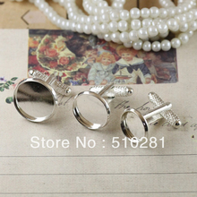 vf-990554541K695478221!!!  Hot on sale 200pcs/lot ,Round 12mm silver stone brass pad cufflinks findings