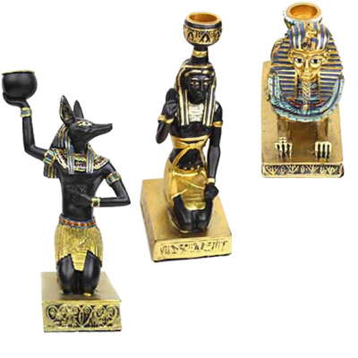 Ancient Egyptian Sphinx / Anubis / Maidservant Model Classical Home Decoration Candleholder Small Resin Toy gift Free shipping<br><br>Aliexpress