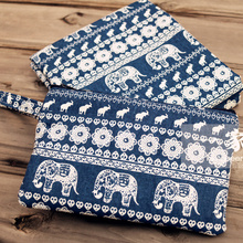 50*150cm Printed elephants cotton and linen blend fabric for  curtain pillow cloth sofa material DIY handmade cotton fabrics