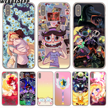 WEBBEDEPP Star vs the Forces of Evil Hard Transparent Cover Case for iPhone 8 Plus 7 Plus 6 6s Plus X/10 5 5S SE 5C 4 4S(China)
