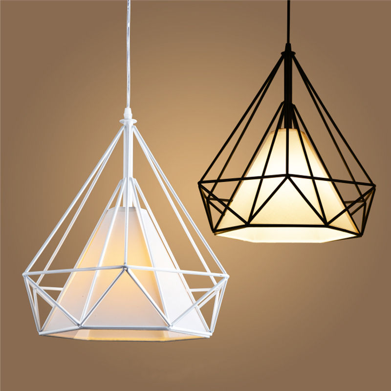 Modern Birdcage Metal Cage Minimalist Pyramid Pendant Light Hanging Ceiling Lamp AC110V/220V E27<br>