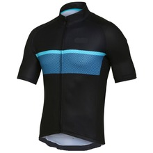 BLACK Quick-Dry Sports Jersey Cycling Clothing Bike Wear short-sleeve cycling jersey custom made Outdoor Sports jersey custom