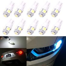 1XCar Interior LED T10 194 168 5050 5SMD W5W Wedge Door Instrument Side Bulb Lamp Car Light Blue/Green/red/Yellow/Pink Source