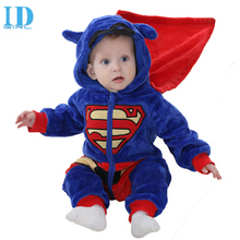 IDGIRL Baby Boys Romper 2017 Newborn Soft Jumpsuits Infant Super Hero Clothes Girls Cosplay Clothing Child Cartoon Pajamas XYZTH