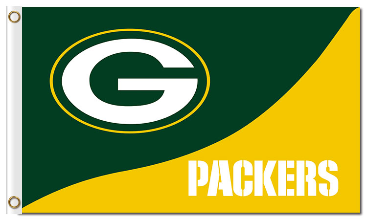 Top design Green Bay Packers flag 90x150cm outdoor polyester banner with 2 Metal Grommets Wholesale(China (Mainland))