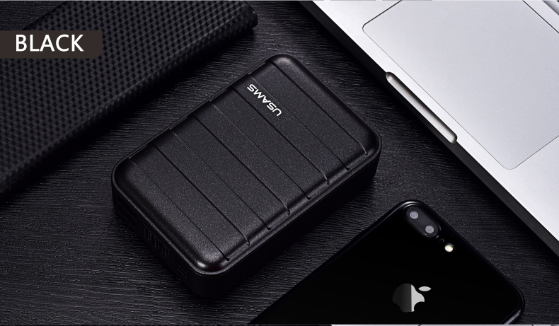 Power Bank 000mAh USAMS LCD Portable PowerBank External Battery Dual USB Charger For Xiaomi iPhone 7 6 6S 5 Mobile Phones Tab 19