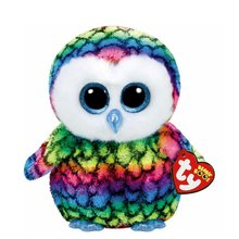 "Pyoopeo Original 10"" 25 cm Medium TY Beanie Boos Aria Owl Plush Stuffed Animal Doll Toy Collectible Big Eyes Owl Dolls Toys"