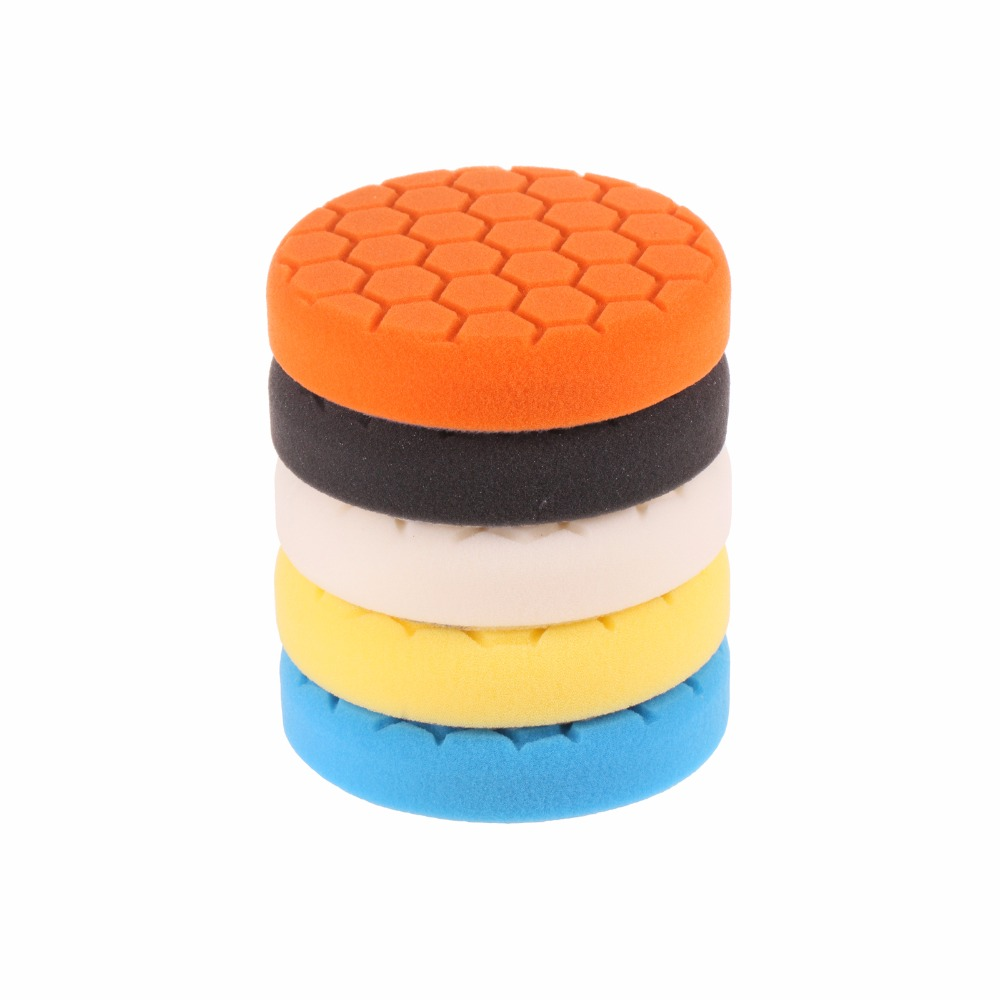 SPTA 3 inch (80mm) Buffing Pad Polishing Pad kit For Car Polisher -Professional Quality Pack Of 5Pcs(China)