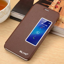 New Arrival Huawei Honor 6 Case Open Window PU Leather Flip Cover Case for Huawei Honor 6 Back Cover with Stand Functi #VA(China)