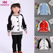 cute sweater girl winter baseball clothes sweater for boys cardigan Stripe Knitted Sweater for Girls T-shirt vetement enfant(China)