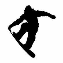Tancredy The 2nd Half Price 13cm*12cm Funny Jumpping Skiing Snowboarder Car-Styling Sticker  Vinyl  Car body Decals and Stickers