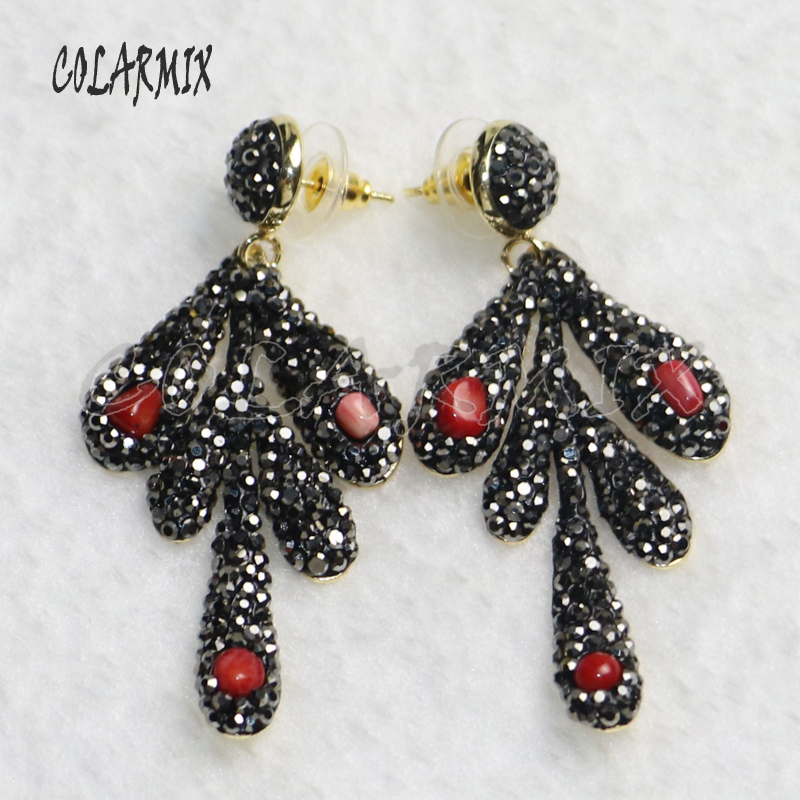 6 Pairs drop earrings pave rhinestone earrings fashion  earrings jewelry Fashion jewelry earrings 9226