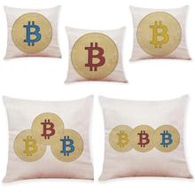Buy Home Decor Cushion Cover Bitcoin Decorative Coins Throw Pillowcase Pillow Covers Free Drop 2017d25 for $2.30 in AliExpress store