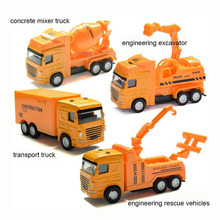 Diecast Engineering Truck Models Kits Alloy Car Styling High Simulation Pull Back Scale Model Truck Vehicle Baby Toys
