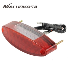 MALUOKASA Motorcycle 11 LED Rear Tail Stop Red Light Lamp for Honda Kawasaki Suzuki Yamaha Dirt Bike Taillight Rear Brake Light(China)