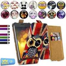"For Gigabyte GSmart Guru G1 5.0"" Universal High Quality Printed Flip PU Leather Cell Phones Case Cover"
