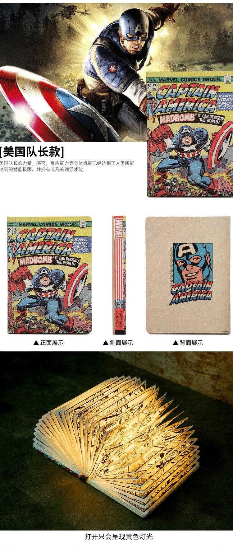 Avengers Comic Book Table Lamps