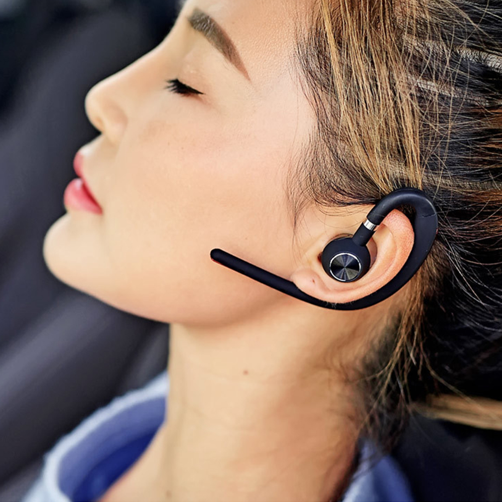 Lymoc Upgrade Y3+ Bluetooth Earphone Handsfree Ear Hook Wireless Headsets V4.1 Noise Cancelling HD Mic Music For iPhone Huawei 2
