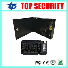 ZK C3-400 Four Door Access Control Panel TCP/IP Door Access Control Board With 12V5A Power Supply Box With Battery Funtion(China)