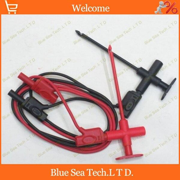 Good Multimeter &amp; car industry test tool kids/sets.test hook/clip +1.0M plug test cable 2 in 1 testing tool,CATIII 1000V/16A<br>