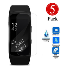 5Pcs Screen Protector Film For Samsung Gear Fit 2 SM-R360 AU8X12 HD Intelligent LCD Clear Protective Films , Not Tempered Glass(China)
